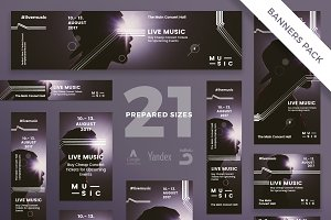 Banners Pack | Music