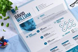 Word Resume / CV Template Design