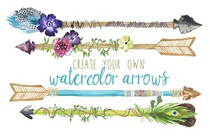 Create Your Own Watercolor Arrows