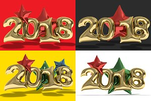 New year balloons. PSD