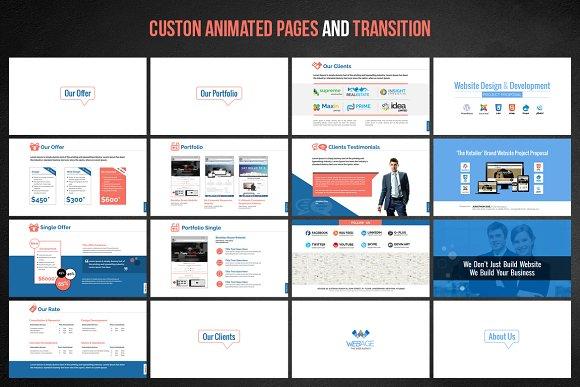 web design development project pre presentation templates