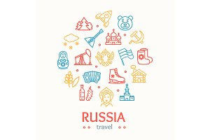 Russia Travel and Tourism Color Icon