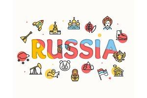 Russia Concept Paper Art. Vector