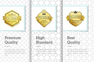 Premium Best Quality Banners Vector Illustration