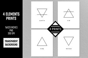 Four Elements Prints Transparent