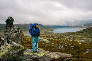 Backpacker in Norway