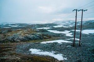 Power line in Norway