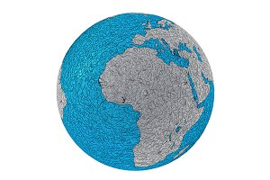 Metallic planet earth europe