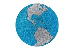 Metallic planet earth america