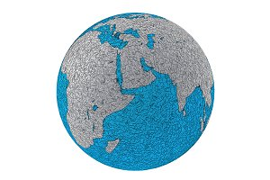 Metallic planet earth Africa