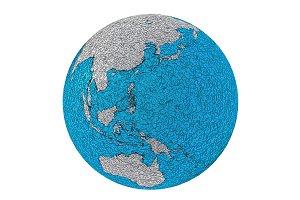 Metallic planet earth australasia