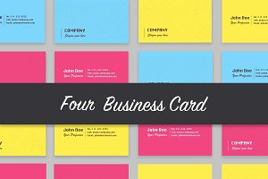4 Colored Business Cards