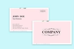Light Pink Business Card