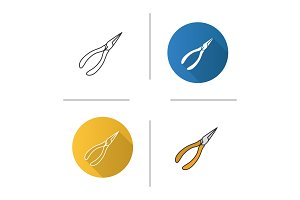 Pointed pliers icon