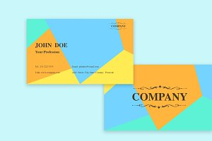 Colorful Geometrics Business Card