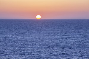 Sunset in the sea