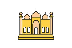 Mosque color icon