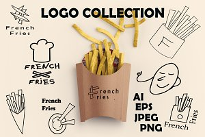 50%OFF! French fries logo collection