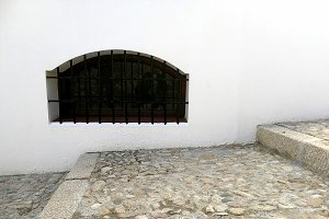 White facade with window