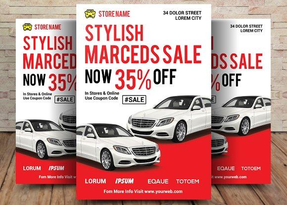 car sale flyer flyer templates creative market