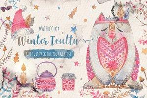 Winter Tonttu Watercolor DIY Pack