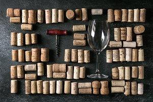 Set of wine corks
