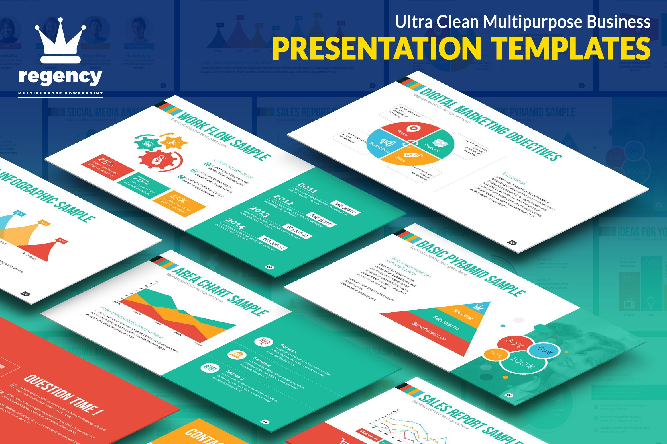Clean business presentation presentation templates creative market cheaphphosting