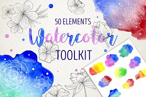 Watercolor & sketches toolkit
