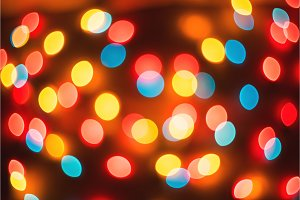 Bokeh. New Year bokeh background