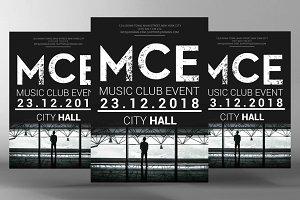 Music Club Event Flyer