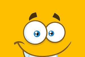 Smiling Cartoon Funny Face