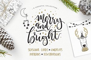 merry bright christmas design kit