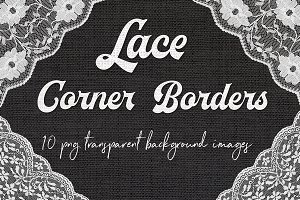 White Lace Corners Clipart