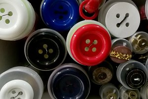Colored buttons various sizes