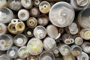 Clear buttons various sizes