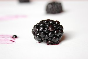 A juicy blackberry