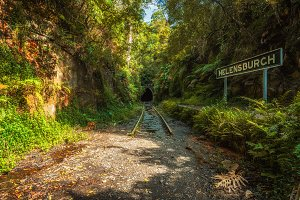 Abandoned Helensburgh Railway Station and tunnel near Sydney