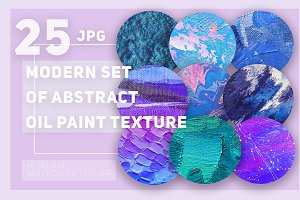 Set of abstract oil paint textures