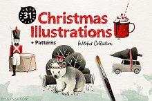 Christmas Illustrations - Inktober