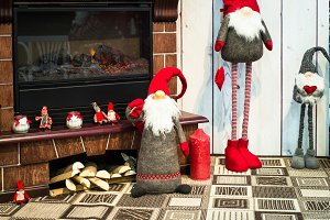 Christmas home interior decorations.