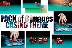 Pack of 8 images with dice