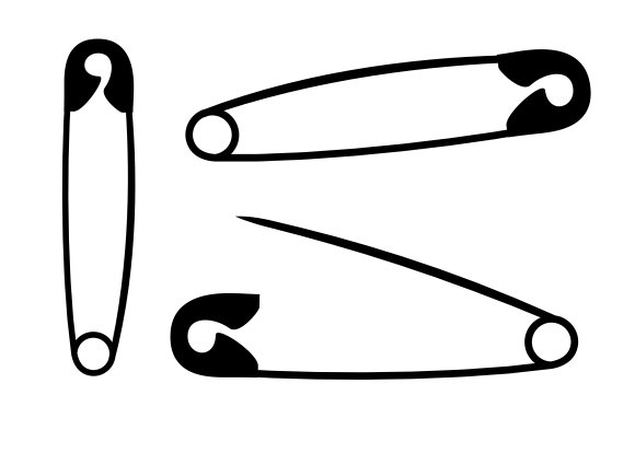 Safety Pin With Clip 1 4 : Silhouette safety graphics creative market