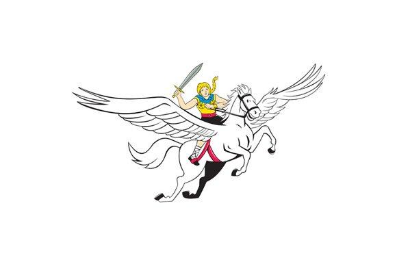Valkyrie Amazon Warrior Flying Horse