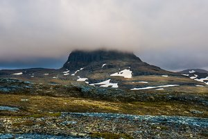 Norway foggy landscape