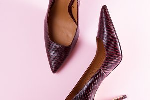 Pair of elegant high heel shoes