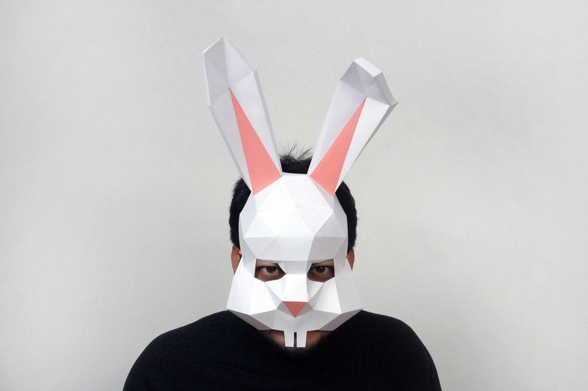 DIY Easter Bunny Mask -3d papercraft ~ Templates ~ Creative Market