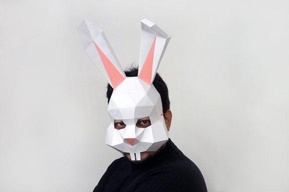 DIY Easter Bunny Mask -3d papercraft
