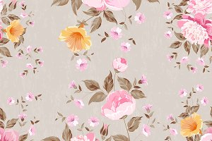 Vitage fabric floral pattern.