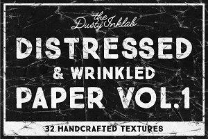 Distressed & Wrinkled Paper Vol. 1