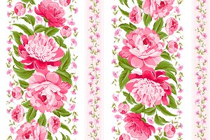 Luxurious floral pattern.